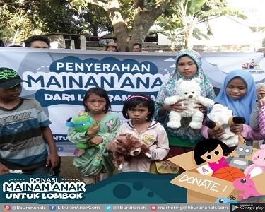 Donasi Mainan Anak Untuk Korban Lombok