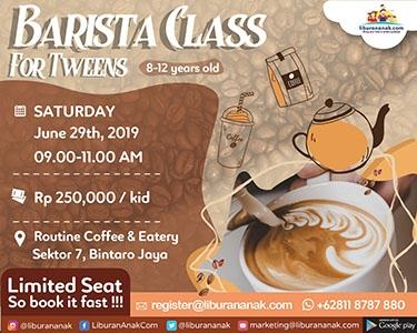 Barista Class For Tweens