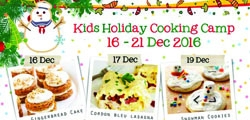 Kids Holiday Cooking Camp 16 - 21 Dec 2016