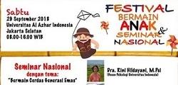 Festival Bermain Anak & Seminar Nasional