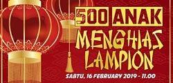 500 Anak Menghias Lampion