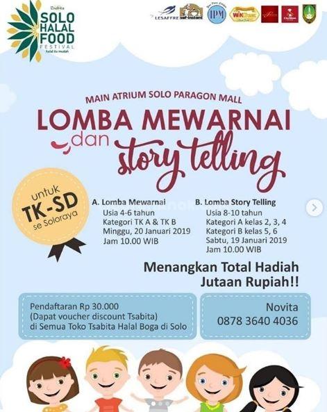 Lomba Mewarnai Dan Story Telling Di Solo Paragon Mall Kids Parents Events Liburan Anak Informasi Event Liburan Keluarga
