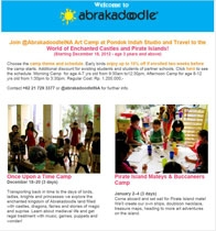 AbrakadoodleINA Art Camp #HolidayProgram