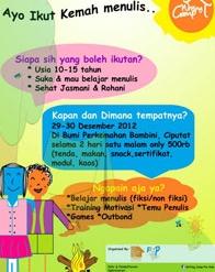 Writing Camp at Bambini Ciputat #HolidayProgram