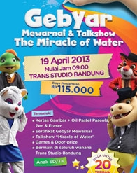 "Gebyar mewarnai dan Talkshow ""The Miracle of Water"""
