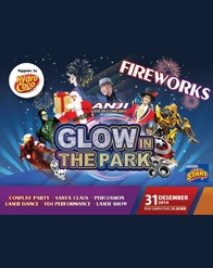 #NewYearEve Glow in The Park at Jungleland Indonesia