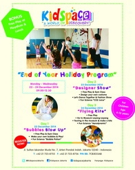 Kidspace - End of Year Holiday Program