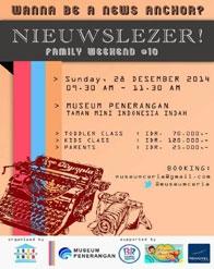 Family Weekend 10: Nieuwslezer dari Museum Ceria!