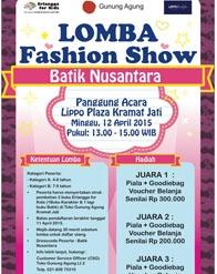 Erlangga for Kids - Lomba Fashion Show Batik Nusantara