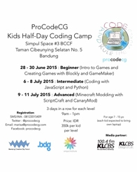 ProCodeCG - Kids Half-Day Coding Camp