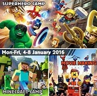 Superhero Camp, Minecraft Camp & LEGO Movie Making Camp