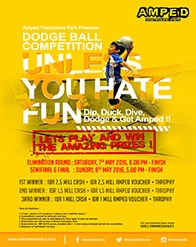 Dodgeball Competition di AMPED TRampoline Park