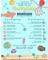#HolidayProgram Under the Sea Fun Holiday with Eduhouse Semarang