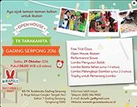 Open House TK Tarakanita Gading Serpong