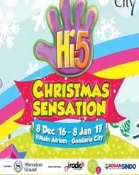 Hi-5 Christmas Sensation at Main Atrium Gandaria City GF