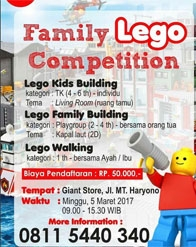 Family Lego Competition at Giant Balikpapan