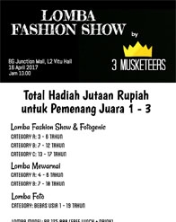 Lomba Fashion Show by 3 Musketeers