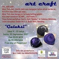 Art & Craft bertema Galaksi bersama Jentik Apik