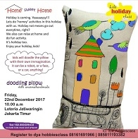 Doodling Pillow with Anoima Hand Made