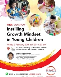 "Parenting Talkshow "" Instilling Growth Mindset in Young Children"""
