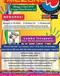Lomba Mewarnai & Fotogenic di Timezone Lippo Plaza Kramatjati