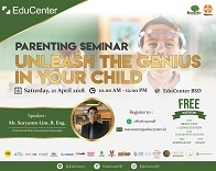 """Unleash The Genius In Your Child"" Parenting Seminar"