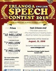 Erlangga English Speech Contest 2018