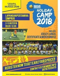Holiday Camp 2018 with Brazilian Soccer Schools