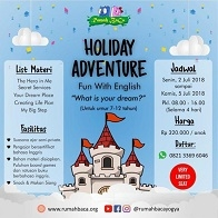 Holiday Adventure with Rumah Baca