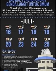 Peneropongan Benda Langit untuk Umum - Juli 2018