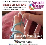 Finger Knitting at Taman Mini Indonesia Indah