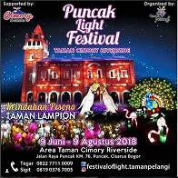 Puncak Light Festival at Taman Cimory Riverside