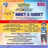 Meet & Greet Pokemon di AEON Mall Jakarta Garden City