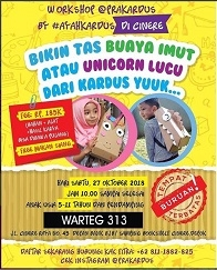 "Workshop Prakardus ""Tas Buaya Imut & Unicorn Lucu"""