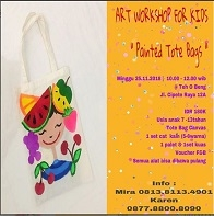 "Art Workshop For Kids ""Painted Tote Bags"""