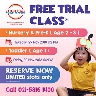 FREE Trial Classes for Toddler, Nursery, and Pre-K