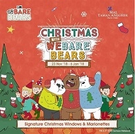 Christmas With We Bare Bears at Mall Taman Anggrek