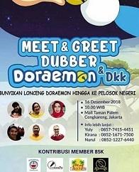 Meet & Greet Dubber Doraemon & DKK di Mall Taman Palem