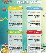 Engineering For Kids Winter Camp Schedule