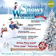Snowy Wonderland Winter at Living World Alam Sutera