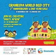 "Creating ""FANCY APRON"" at Gramedia World BSD"