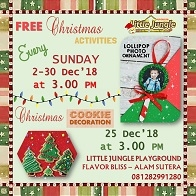 FREE Christmas Activities at Little Jungle Playground