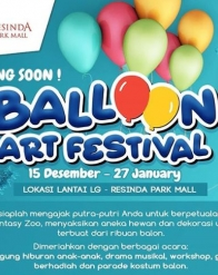 Balloon Art Festival di Resinda Park Mall