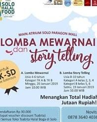 Lomba Mewarnai dan Story Telling di Solo Paragon Mall