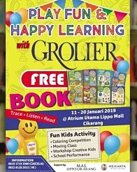 Play Fun & Happy Learning with Grolier di Mal Lippo Cikarang