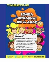 Lomba Mewarnai Ibu & Anak di Timezone Metro Indah Mall