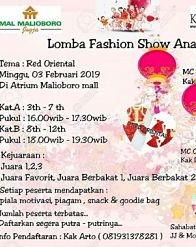 Children's Fashion Show Competition at Malioboro Mall