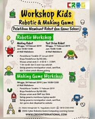 Workshop Kids Robotic & Making Game at Malioboro Mall