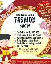 Nyonyo & Nonik Fashion Show at Armada Town Square