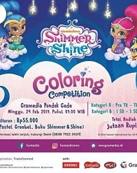 Shimmer & Shine Coloring Competition at Gramedia Pondok Gede